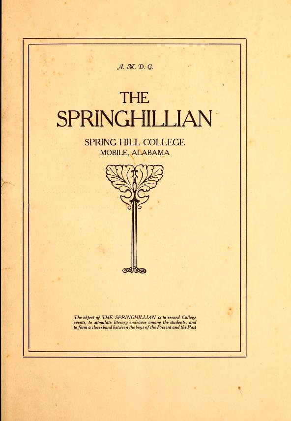 Front page of the springhillian from 1914