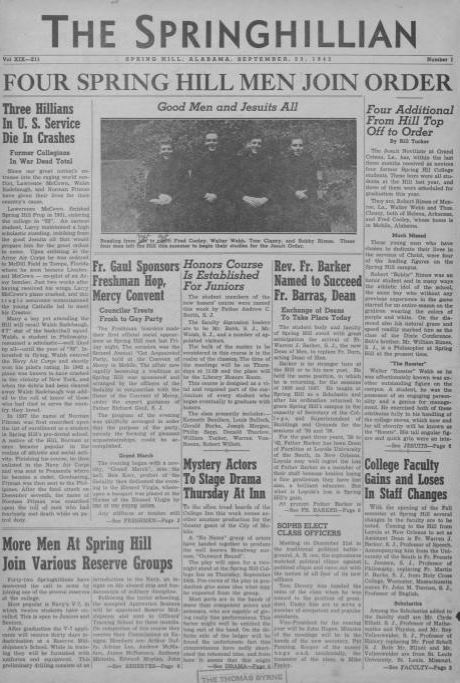 Front page of the Springhillian from September 24 1932