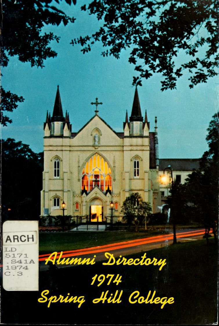 Cover of 1974 Alumni Directory book