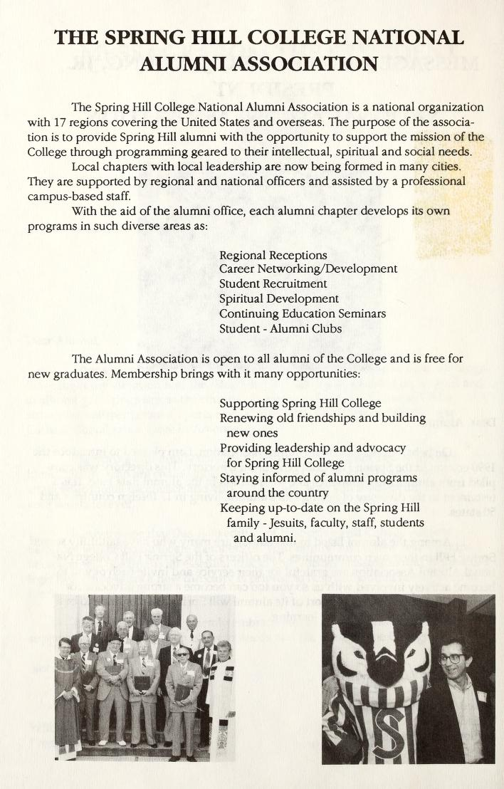 Alumni Association of SHC description