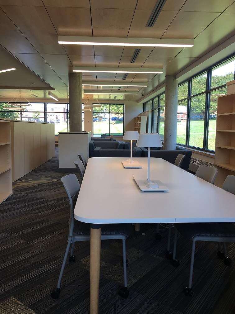 View of new learning commons