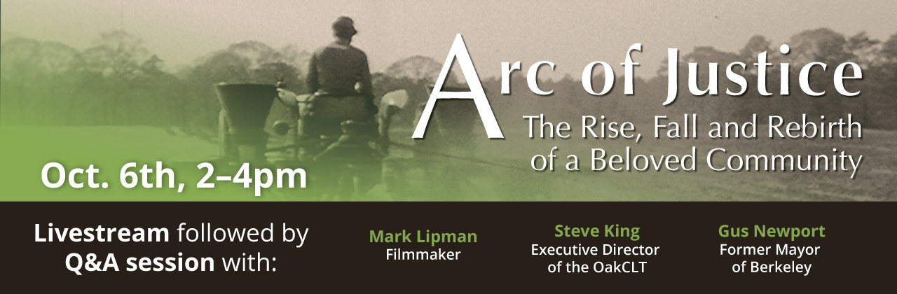 Arc of Justice screening on Tuesday, October 6, from 2-4pm.
