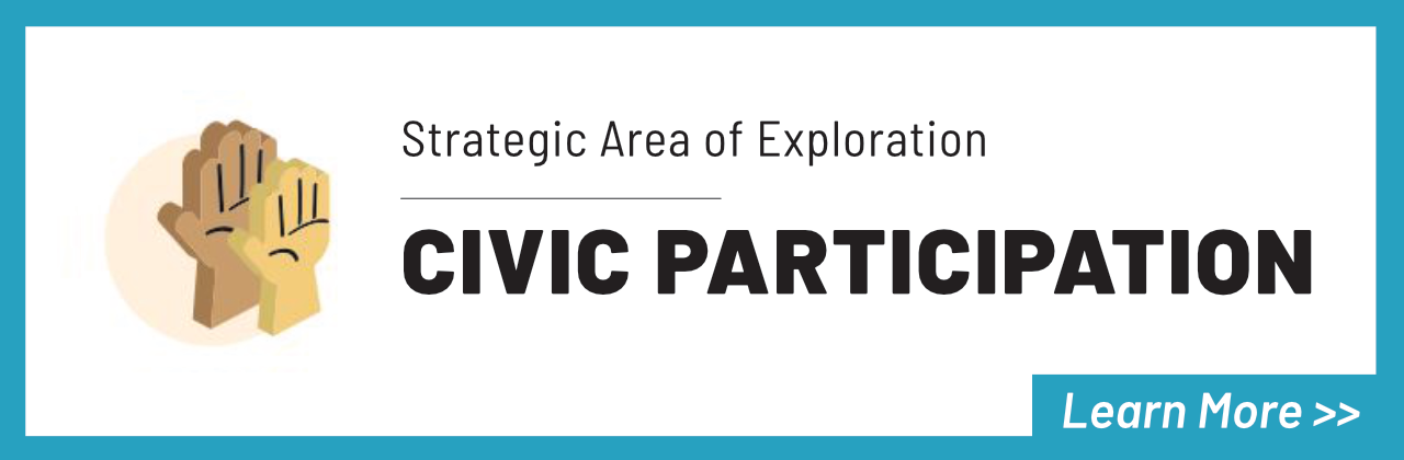 Strategic Area of Exploration Civic Participation Learn More