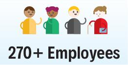270+ Employees