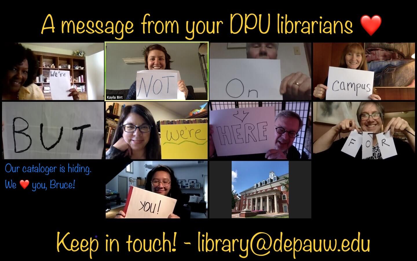 DePauw University Library collage