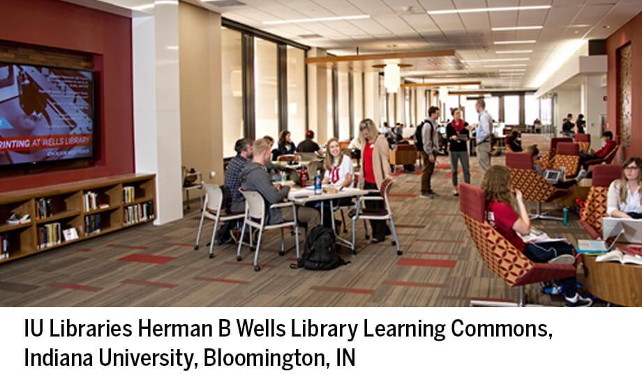 Interior, IU (Bloomington) Wells Library Learning Commons