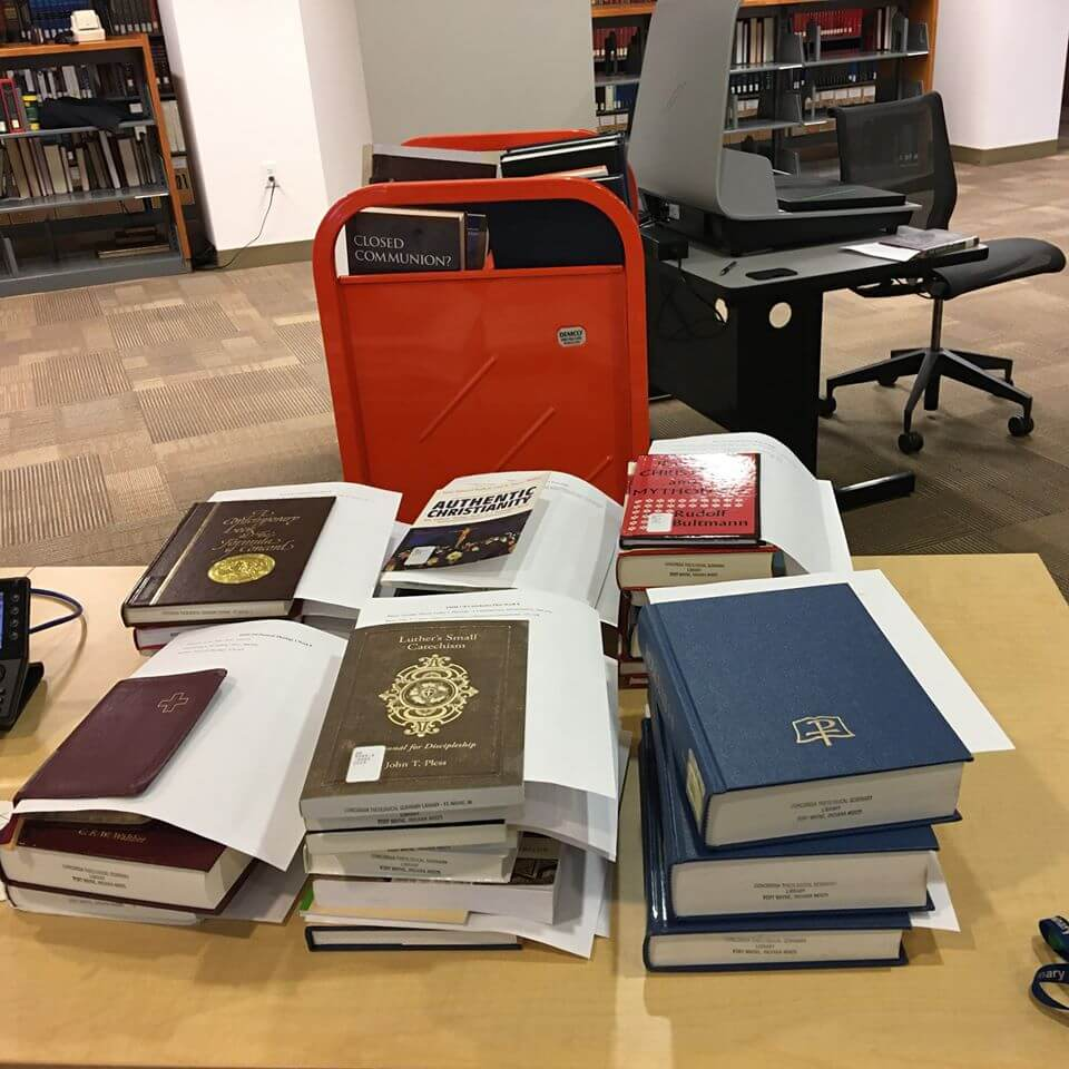 Books prepared to be scanned, Kroemer Library