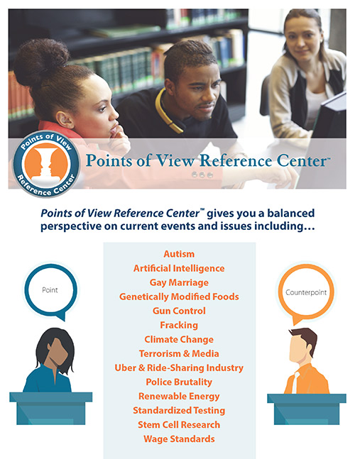Search the Points of View Reference Center for common topics of debate.