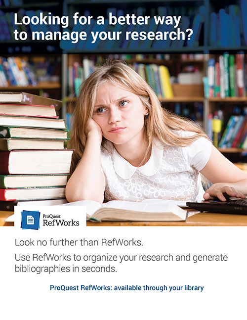 Use RefWorks for your Citations!