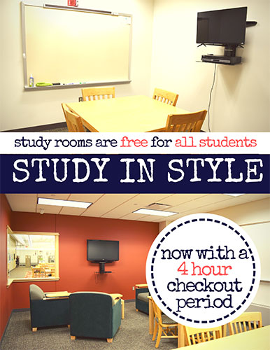 Checkout a Study Room!
