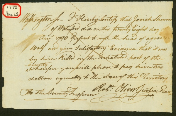 Manuscript: Wolf Bounty