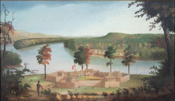 Oil Painting: Fort Harmar by Sala Bosworth