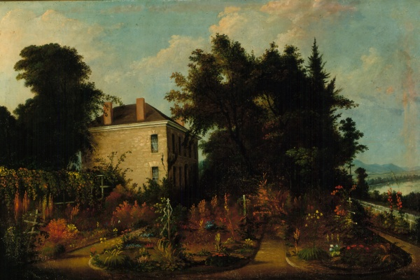 Oil Painting Reproduction: Home of Ephraim Cutler by Sala Bosworth