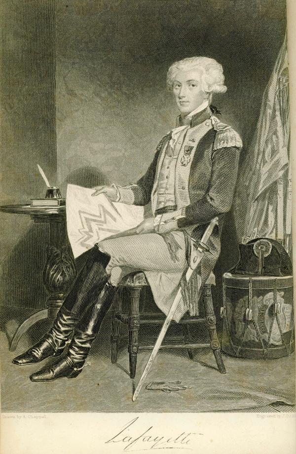 Engraving: The Marquis de Lafayette