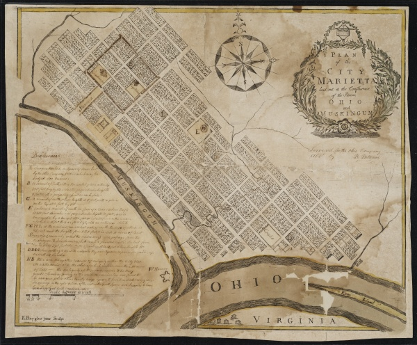 Plan of the City of Marietta by Rufus Putnam, 1788