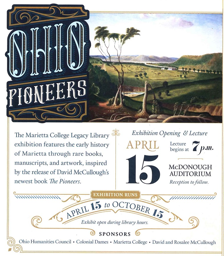 Reverse of Postcard Ohio Pioneers Exhibit
