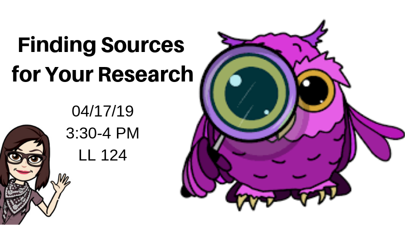 Finding Sources for Your Research