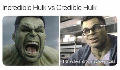 """绿巨人vs绿巨人-""""我总是引用我的资料来源"""""""