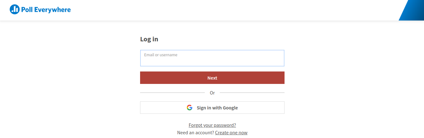 initial log on screen