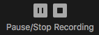 Zoom Pause Stop Recording Button