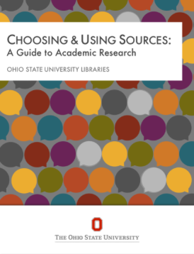 cover page of choosing & using sources textbook