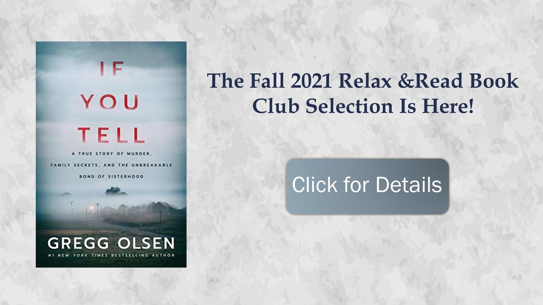 If You Tell Olsen Fall 2021 Book Club