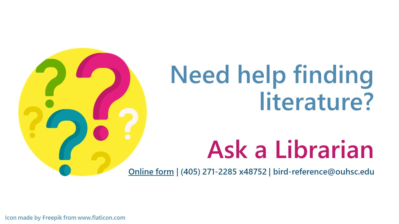 Question mark icon - ask a librarian