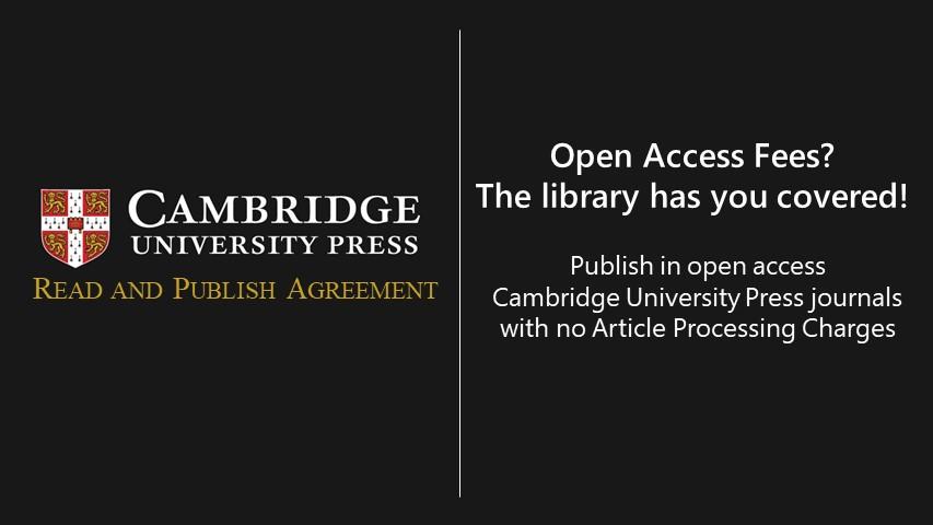 Cambridge University Press Logo Read and Publish