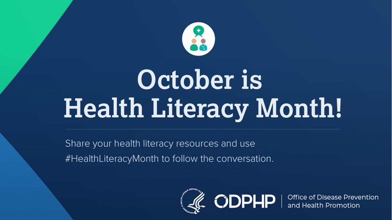 October is Health Literacy Month