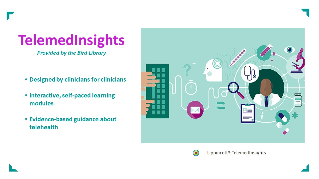 Man with a keyboard icon, Telemed Insights from Lippincott