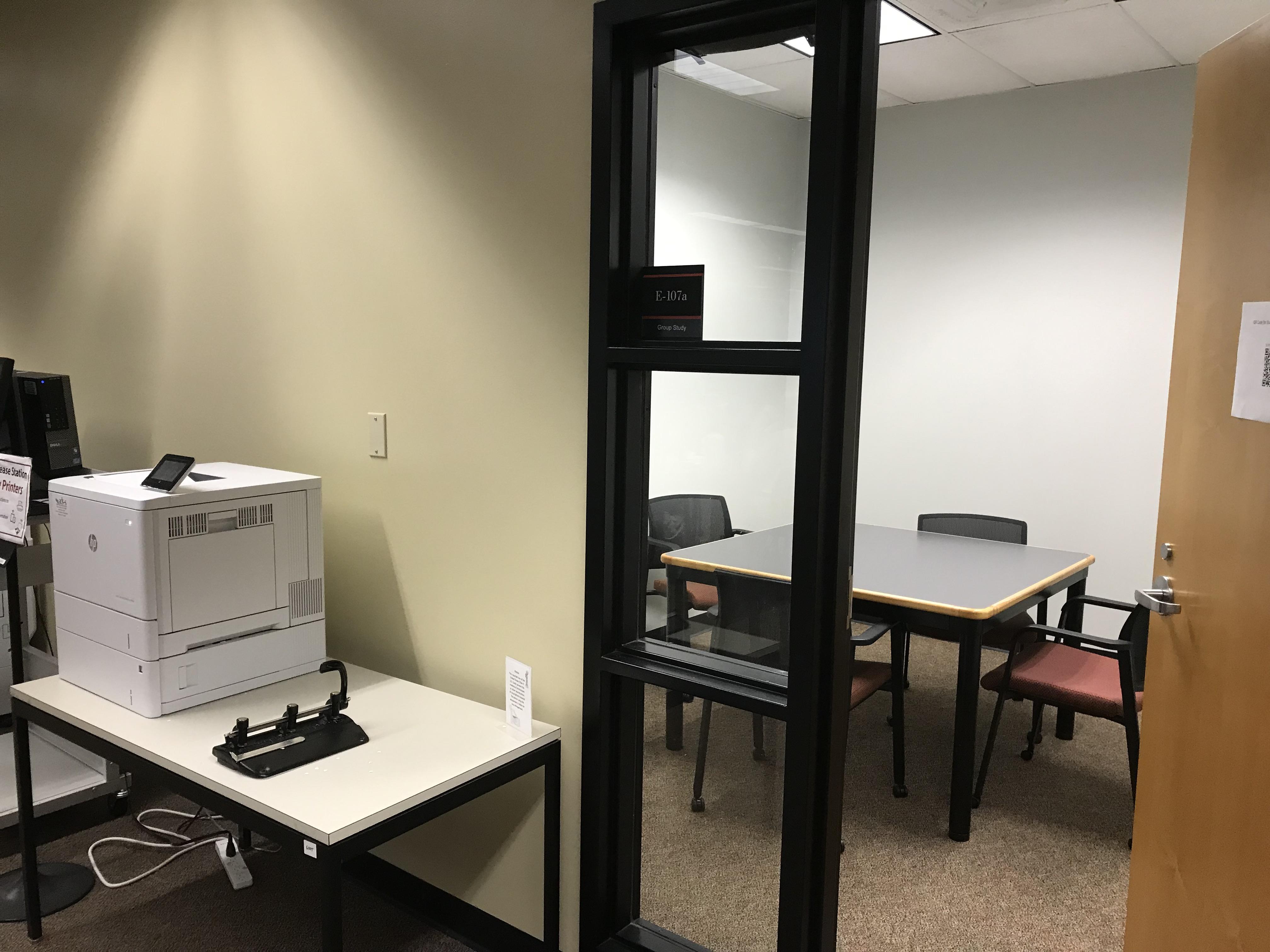 study room E-107a