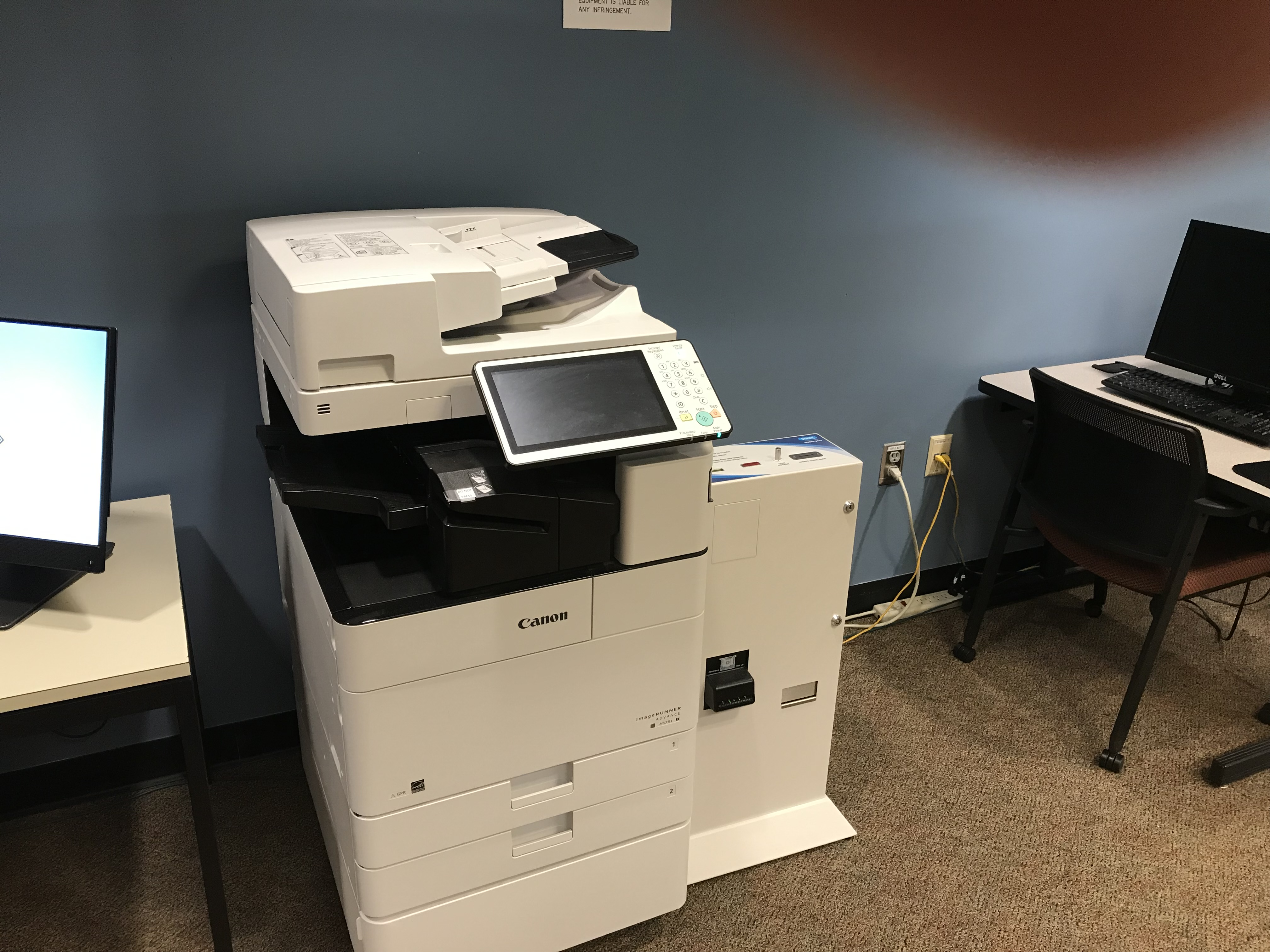 Photocopier in the Learning Commons Room