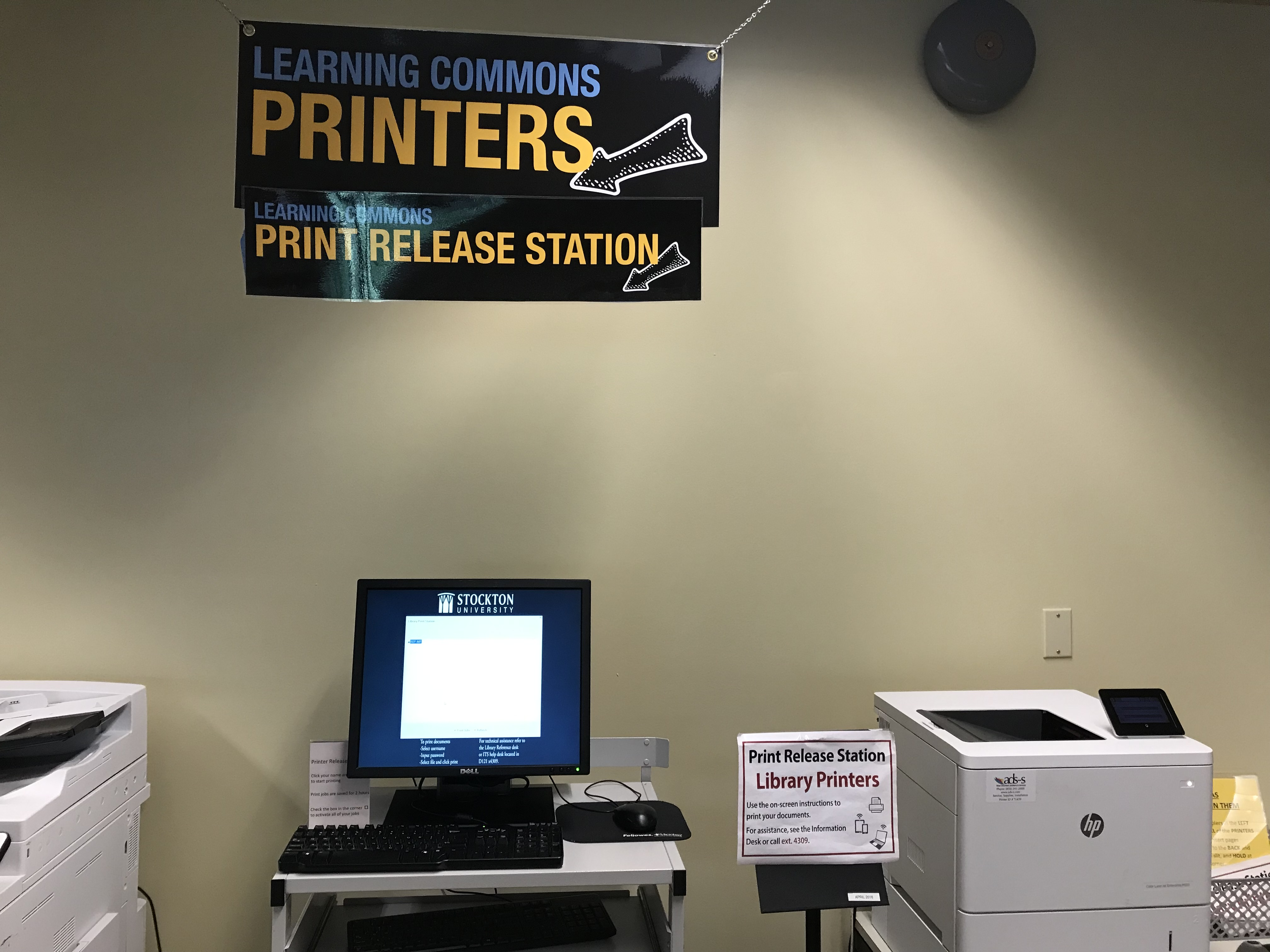 Print Station in the Learning Commons Room