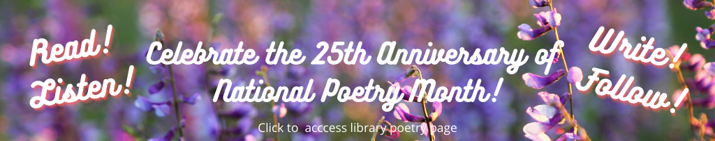 National Poetry Month Promo