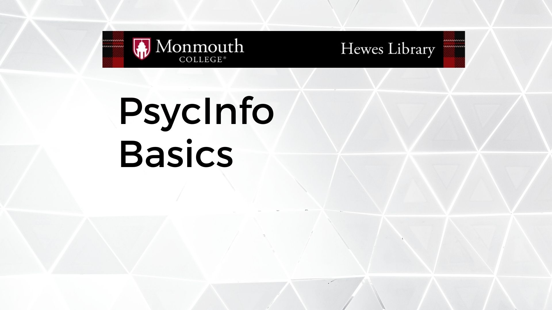PsycInfo Basics