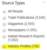industry profile source limit