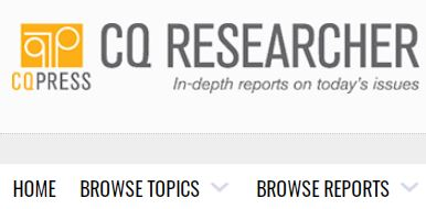 cq researcher browse topics browse reports