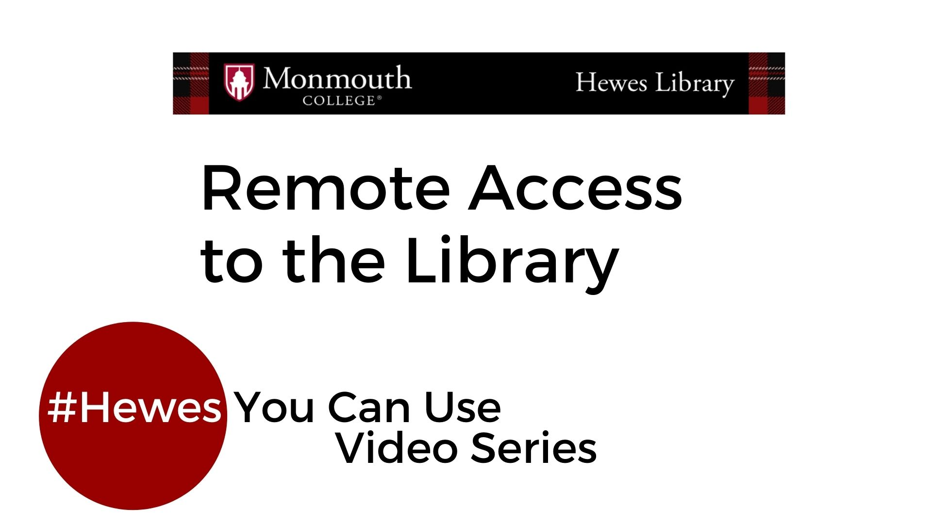 remote access to the library