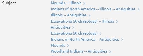 woodland indian subject headings