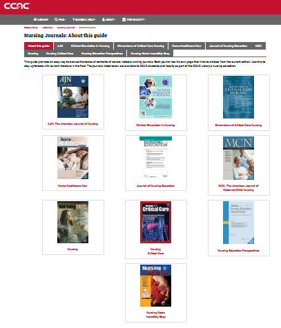 nursing journals page
