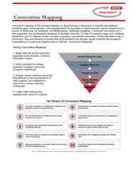 curriculum mapping handout