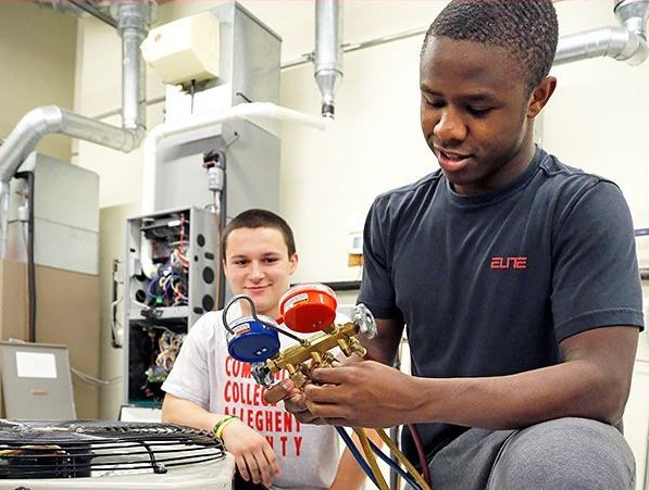 students in hvac
