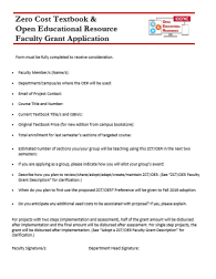 faculty grant application