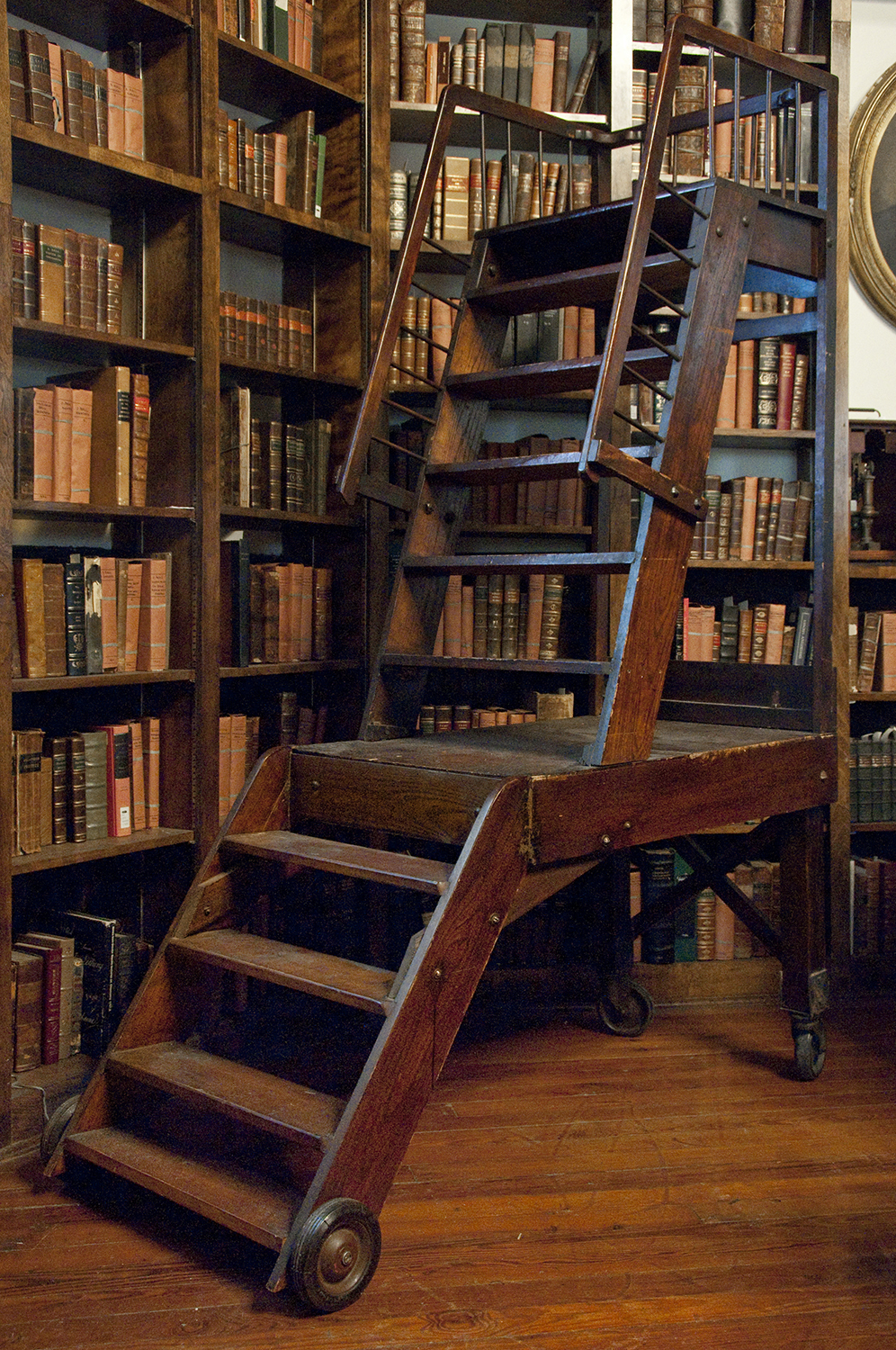 Second Floor Bookshelf Ladder