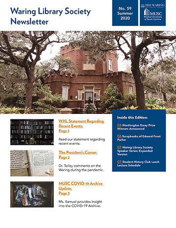Waring Library Society Spring Newsletter Cover