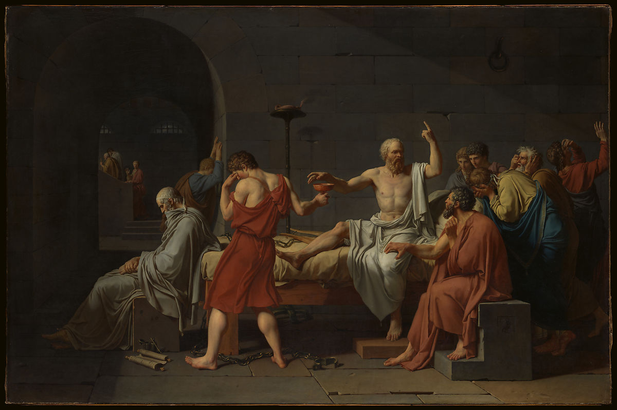 The Death of Socrates by Jacques Louis David, Metropolitan Museum of Art
