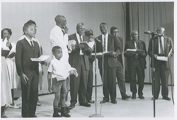 Wiregrass Sacred Harp Singers, WTVY Channel 4, Dothan, AL, 8 June 1968.