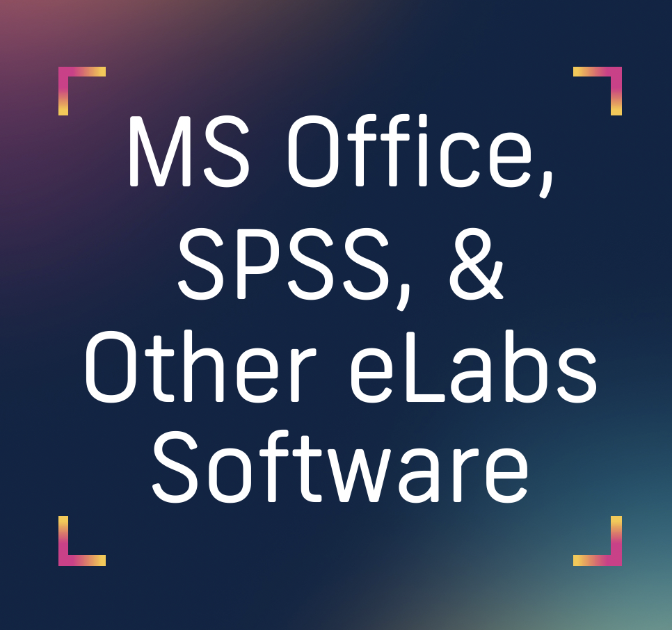 spss microsoft office and elabs software