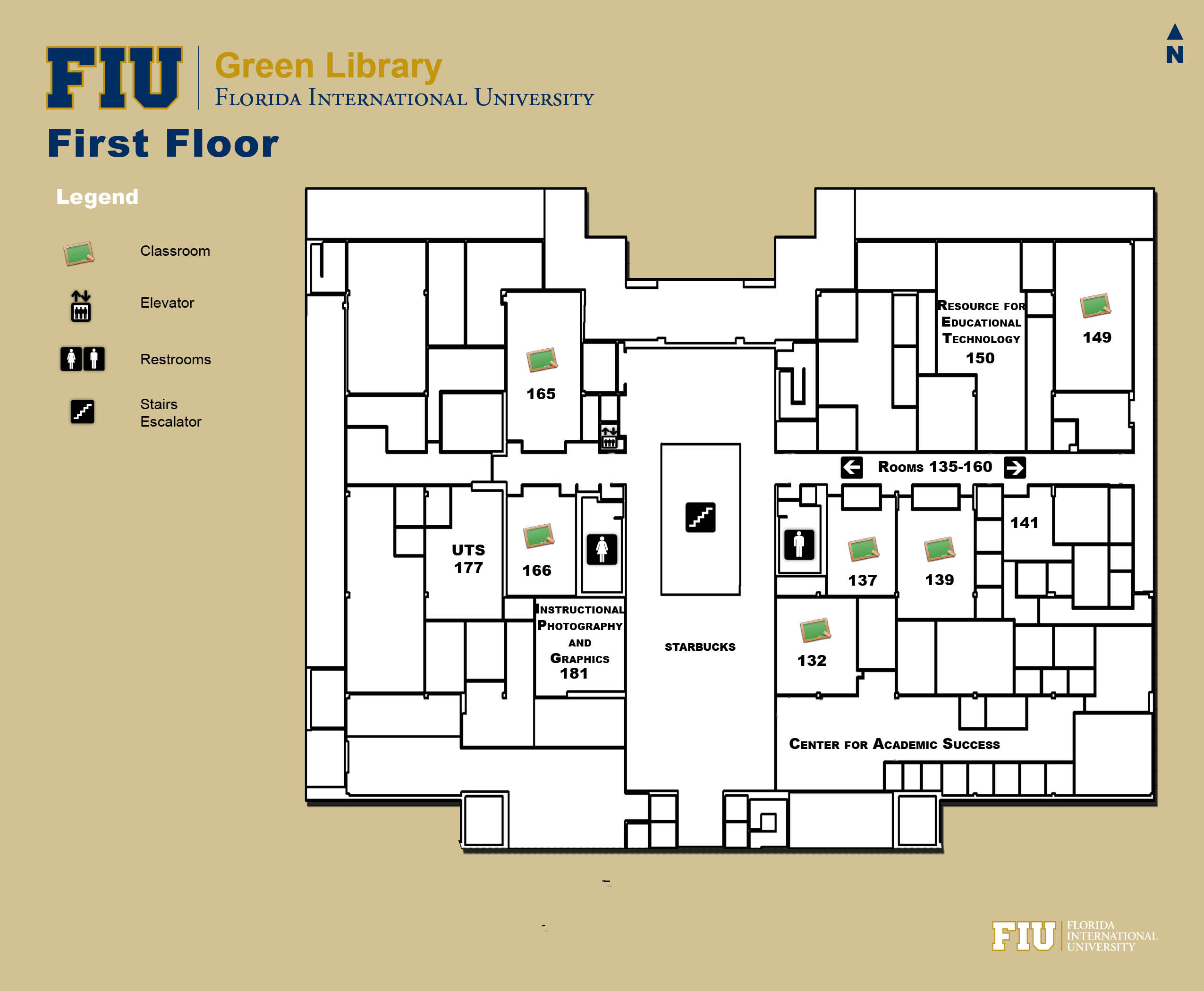 Floorplan for Floor 1 of Green Library