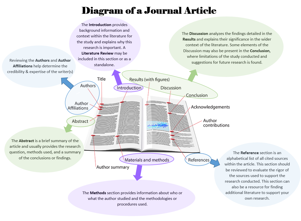 diagram of a journal article